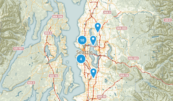 Seattle, Washington Road Biking Map