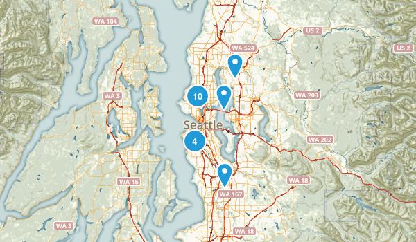 Seattle, Washington Road Biking Map