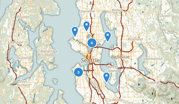 Seattle, Washington Wild Flowers Map