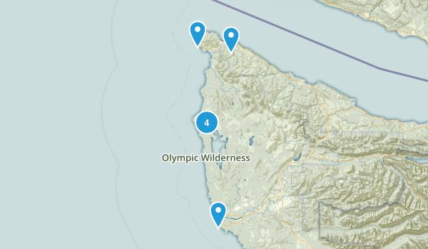 Sekiu, Washington Beach Map