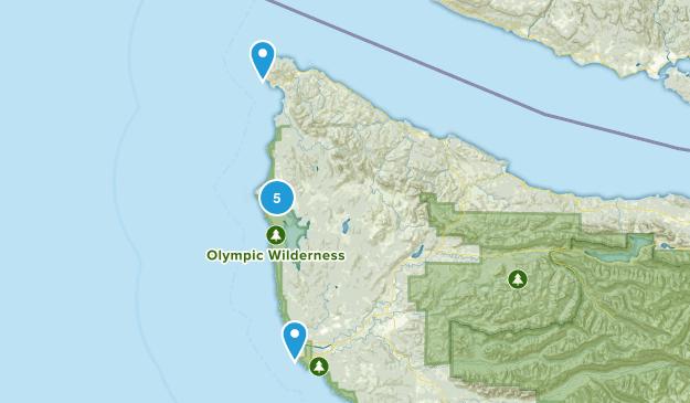 Sekiu, Washington Hiking Map