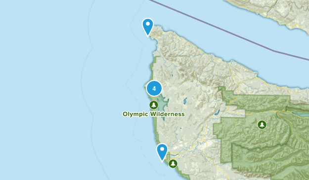 Sekiu, Washington Nature Trips Map