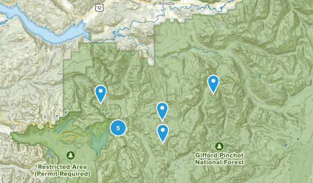 Siler, Washington Hiking Map