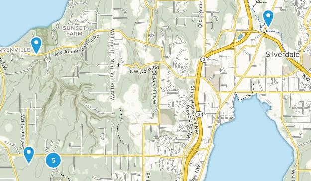 Silverdale, Washington Hiking Map
