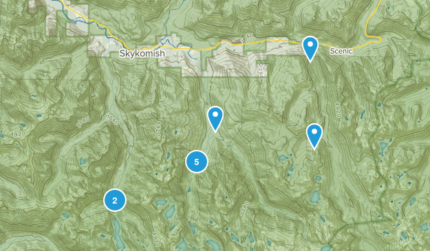 Skykomish, Washington Backpacking Map