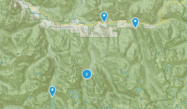 Skykomish, Washington Waterfall Map