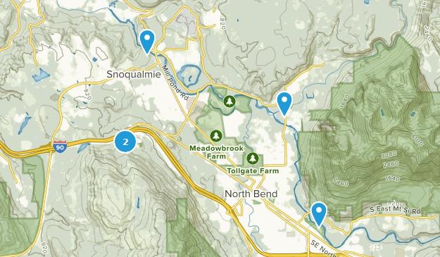 Snoqualmie, Washington Bird Watching Map
