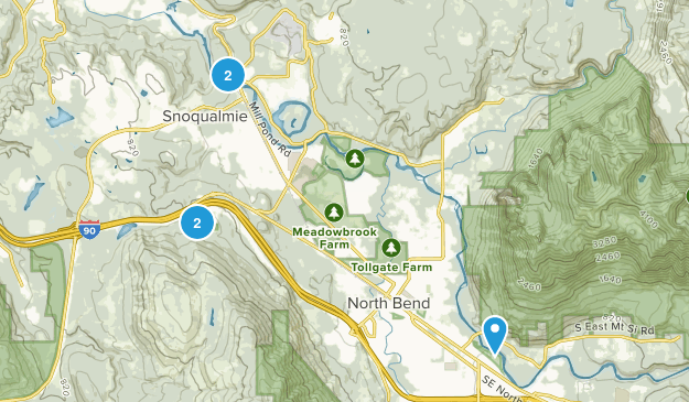 Snoqualmie, Washington Dogs On Leash Map
