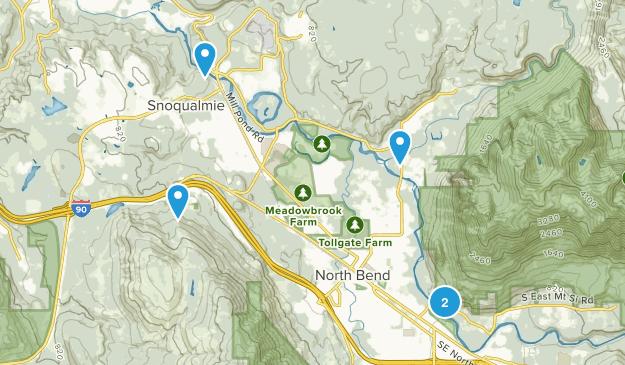 Snoqualmie, Washington Nature Trips Map
