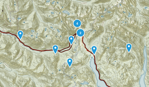 Snoqualmie Pass, Washington Backpacking Map