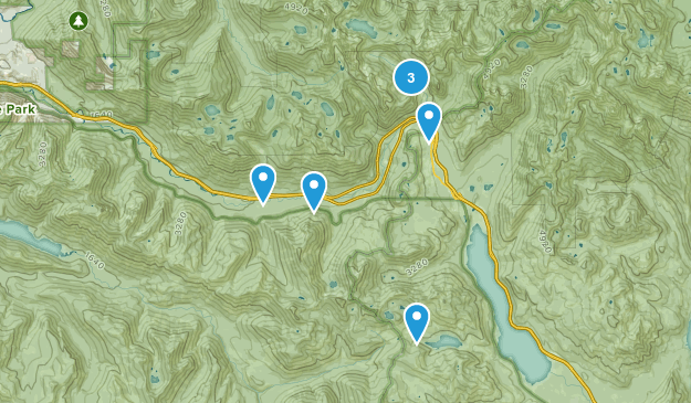 Snoqualmie Pass, Washington Camping Map