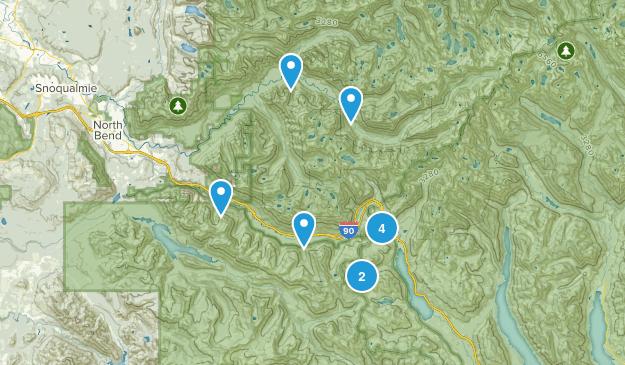 Snoqualmie Pass, Washington Kid Friendly Map