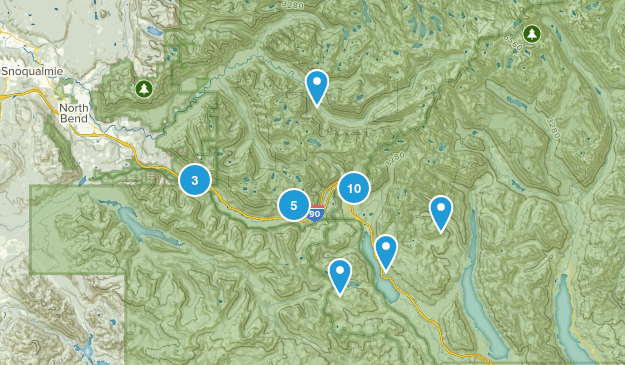 Snoqualmie Pass, Washington Wildlife Map