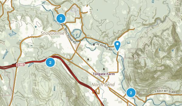 Snoqualmie, Washington Walking Map