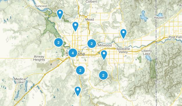Spokane, Washington Birding Map