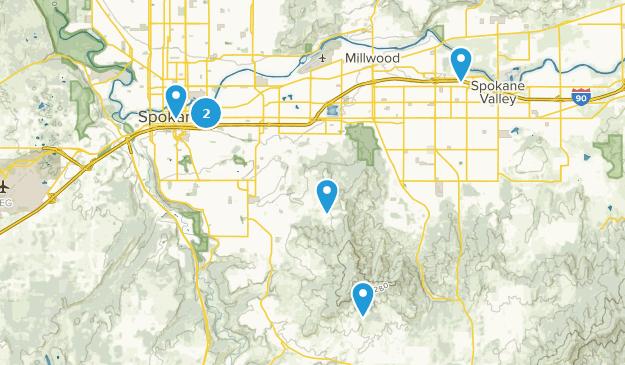Spokane, Washington Dog Friendly Map