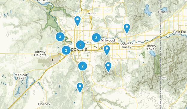 Spokane, Washington Dogs On Leash Map