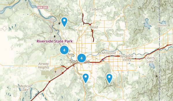 Spokane, Washington River Map
