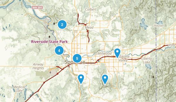 Spokane, Washington River Map