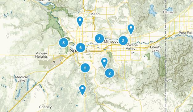 Spokane, Washington Views Map