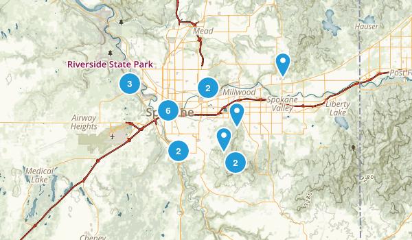 Spokane, Washington Walking Map