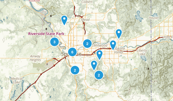 Spokane, Washington Walking Map