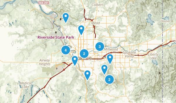 Spokane, Washington Wild Flowers Map