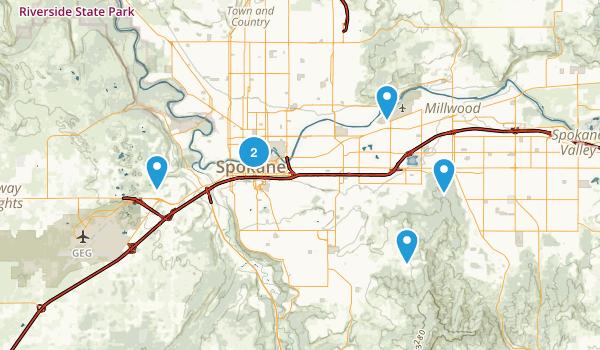 Spokane, Washington Wildlife Map