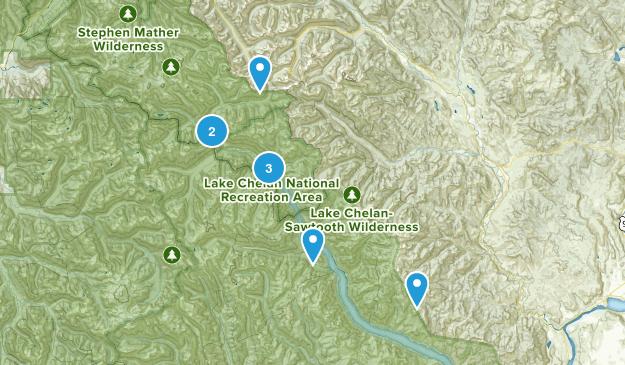 Stehekin, Washington Camping Map