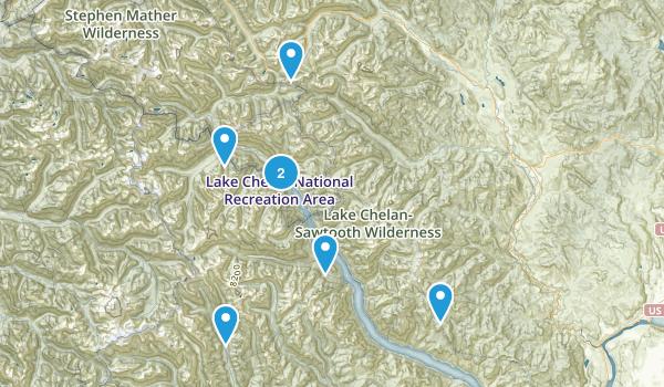 Stehekin, Washington Lake Map