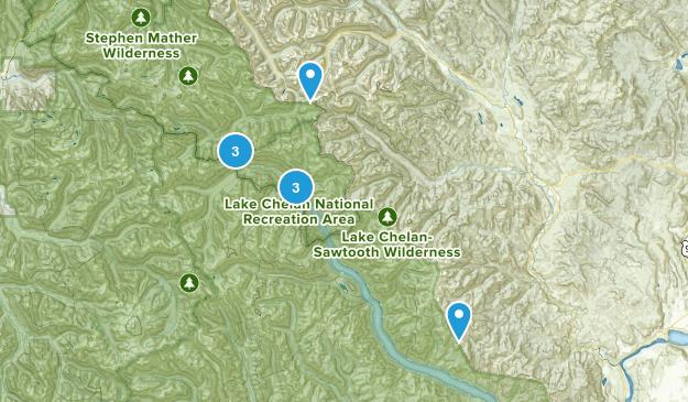 Stehekin, Washington River Map