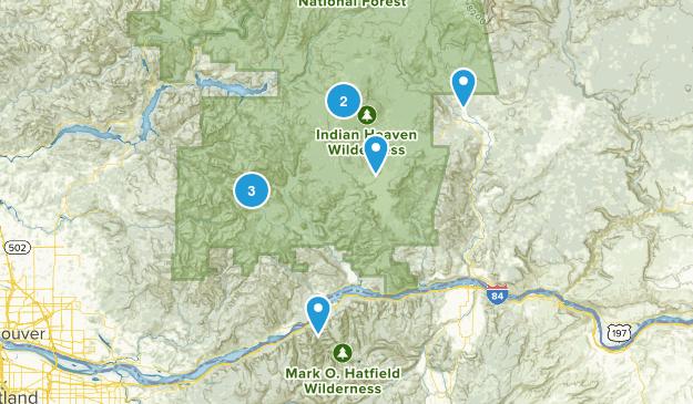 Stevenson, Washington Camping Map