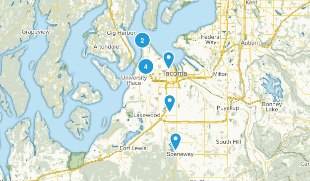 Tacoma, Washington Birding Map