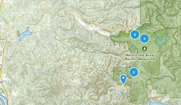 Toutle, Washington Hiking Map
