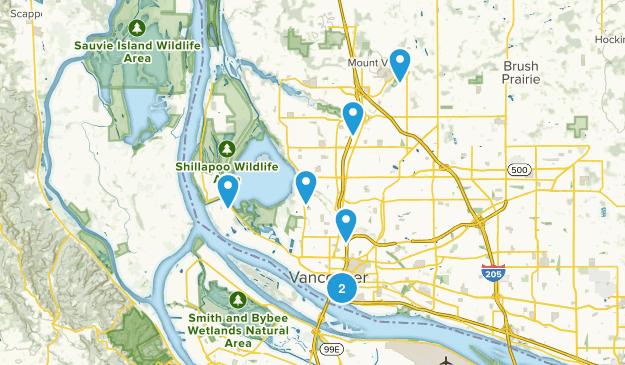Vancouver, Washington Dogs On Leash Map
