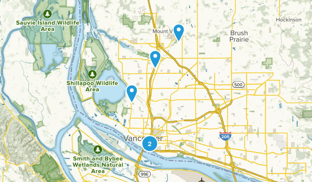 Vancouver, Washington River Map
