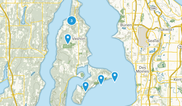 Vashon, Washington Birding Map