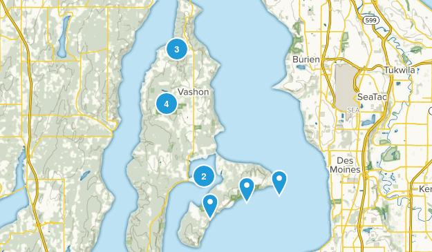 Vashon, Washington Trail Running Map