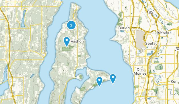 Vashon, Washington Wildlife Map