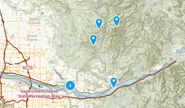 Washougal, Washington Birding Map