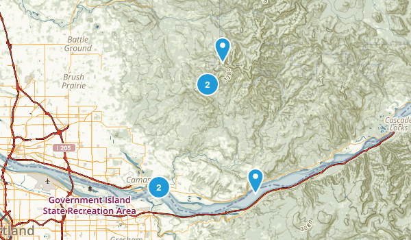 Washougal, Washington Dogs On Leash Map