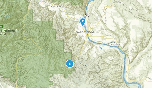 Wenatchee, Washington Forest Map