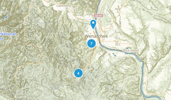 Wenatchee, Washington Walking Map