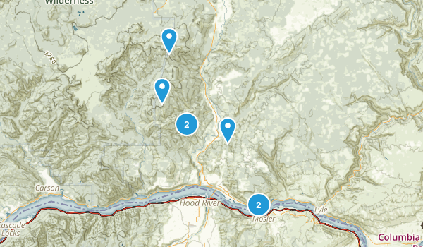 White Salmon, Washington Hiking Map