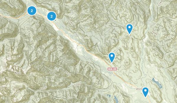 Winthrop, Washington Cross Country Skiing Map