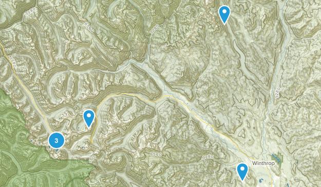 Winthrop, Washington Lake Map