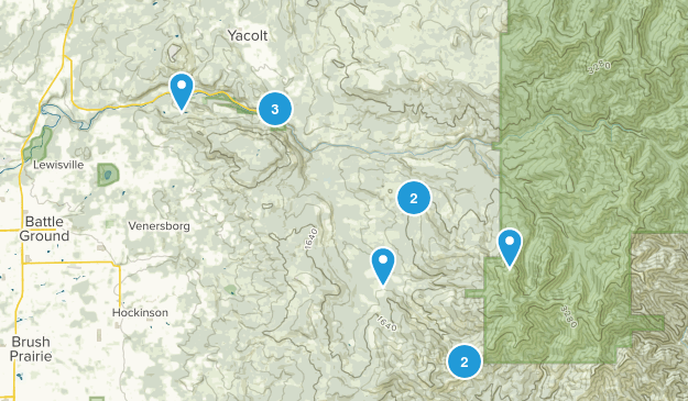 Yacolt, Washington Hiking Map