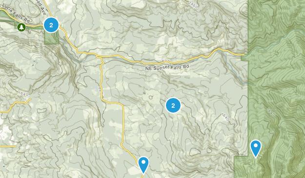 Yacolt, Washington Mountain Biking Map