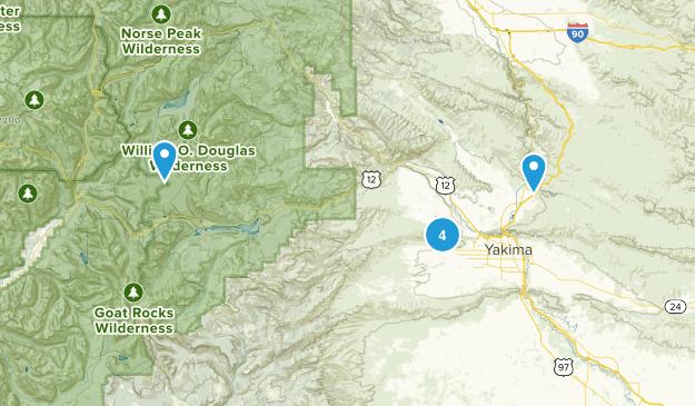 Yakima, Washington Hiking Map