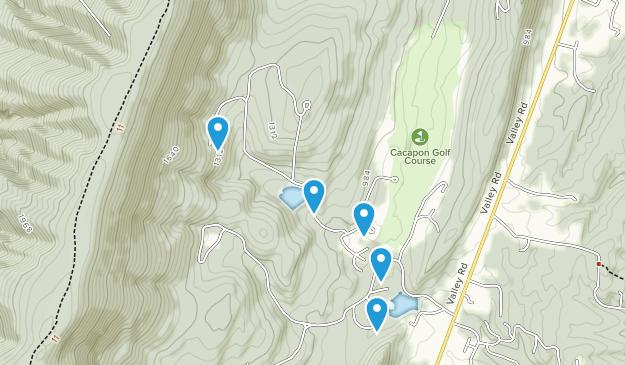 Berkeley Springs, West Virginia Dogs On Leash Map
